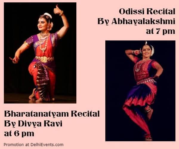 IIC Double Bill Dance Recitals Divya Ravi Abhayalakshmi India International Centre Lodhi Estate Creative