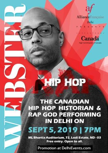 Canandian Hip Hop Historian Rap God Webster Alliance Francaise Creative