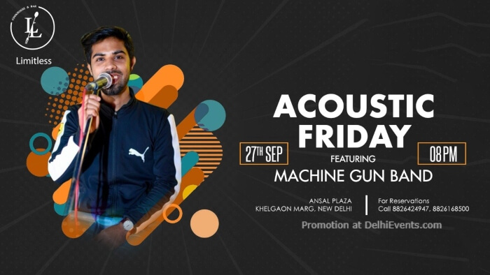 Acoustic Friday Machine Gun Band Ansal Plaza Khel Gaon Marg Creative