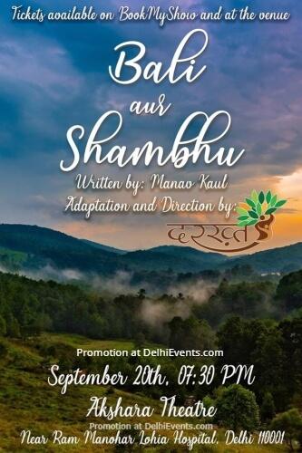 Bali Aur Shambhu Hindustani Play Akshara Theatre Baba Kharak Singh Marg Creative