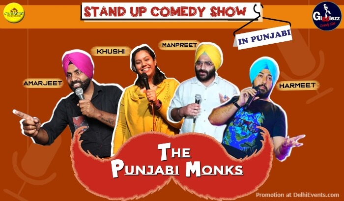Punjabi Monks Standup Comedy Punjabi Akshara Theatre Baba Kharak Singh Marg Creative