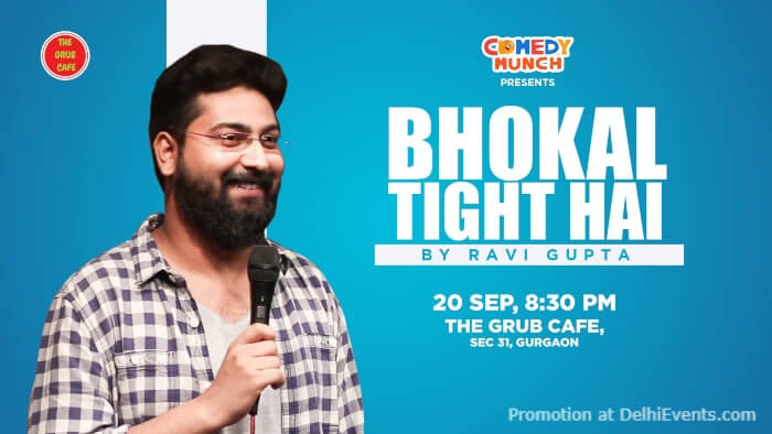 Comedy Munch Bhokal Tight Hai Standup Comedy Ravi Gupta Grub Cafe Gurugram Creative