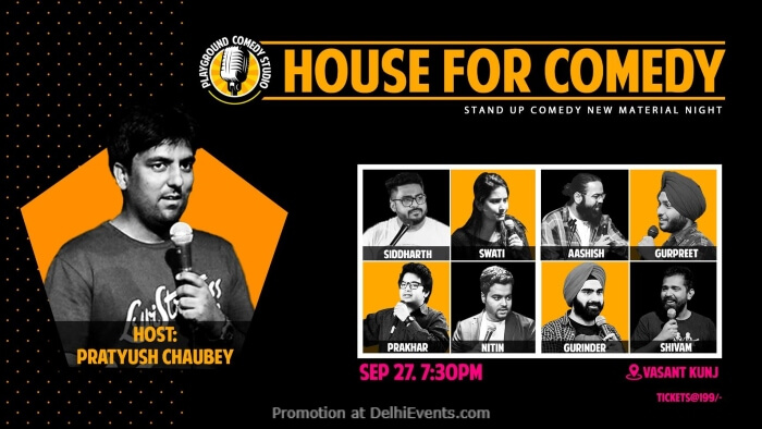 House For Comedy Standup Comedy Host Pratyush Chaubey Creative