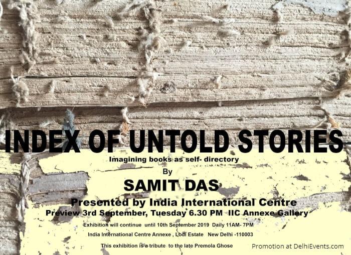 Index Untold Stories solo show artworks Samit Das IIC Creative