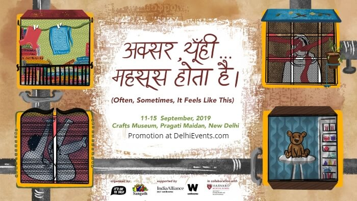 Its Ok Talk Sangath Goa premiere Aksar yuhimehsoos hota hai play mental health Crafts Museum Pragati Maidan Creative