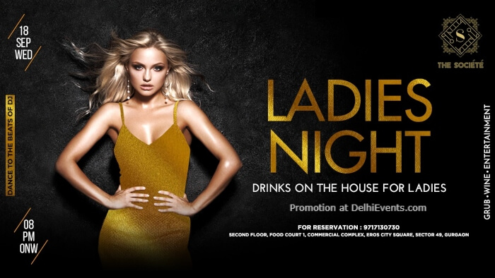 Ladies Night Societe Gurugram Creative