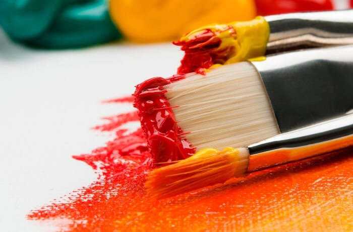 Paint Brushes Colours