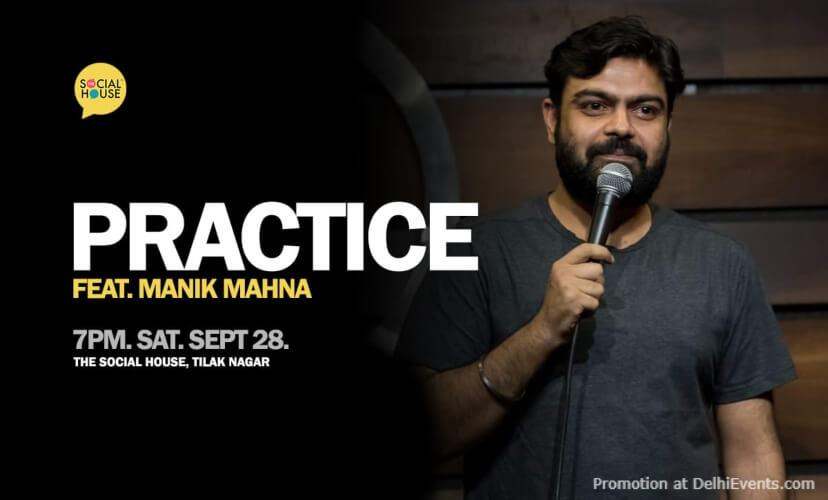 Practice Standup Comedy Manik Mahna Social House Tilak Nagar Creative
