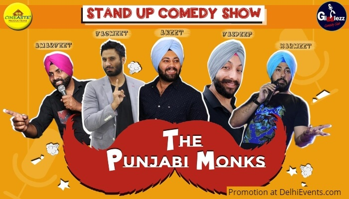 Punjabi Monks Standup Comedy Akshara Theatre Creative