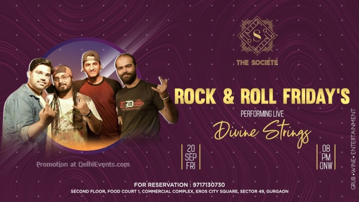 Rock Roll Fridays Divine Strings Societe Gurugram Creative