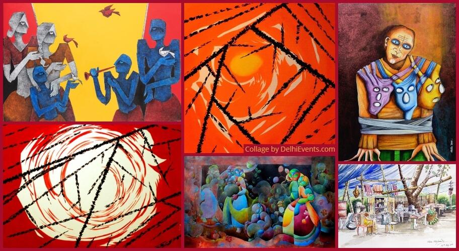 Sanskruti Echoes Eternity Group Show Paintings Sculptures  Stills