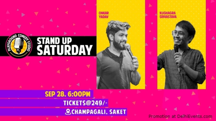 Saturday Standup Comedy Kushagra Srivastava Onkar Yadav Playground Comedy Studio Saket Creative