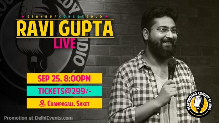 Standup Ravi Gupta Playground Comedy Studio Saket Creative