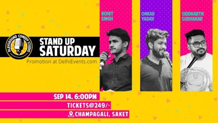 Standup Comedy Siddharth Sudhakar Rohit Singh Onkar Yadav Playground Comedy Studio Saket Creative