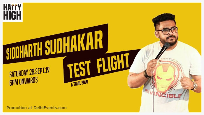 Test Flight Standup Comedy Siddharth Sudhakar Happy High Shahpur Jat Creative
