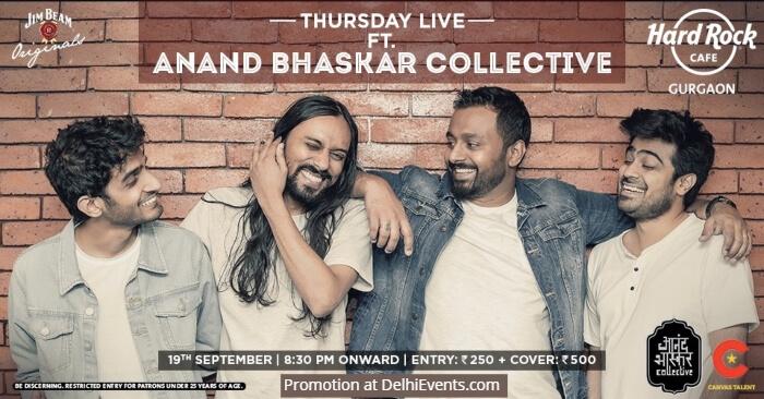 Thursday Live Anand Bhaskar Collective Hard Rock Cafe Gurugram Creative