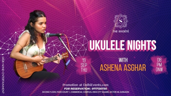 Ukulele Night Ashena Asghar Societe Gurugram Creative