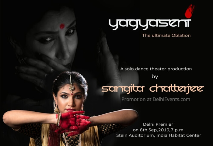 Yagyaseni ultimate Oblation Solo Kathak dance theatre production Sangita Chatterjee IHC Creative