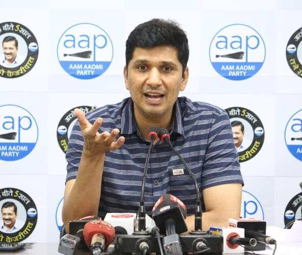 Saurabh Bhardwaj Aam Aadmi Party's Chief Spokesperson wants MCD CM Arvind Kejriwal Stills