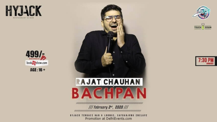Bachpan Standup Comedy Show Rajat Chauhan Hyjack Restaurant Bar Safdarjung Enclave Creative