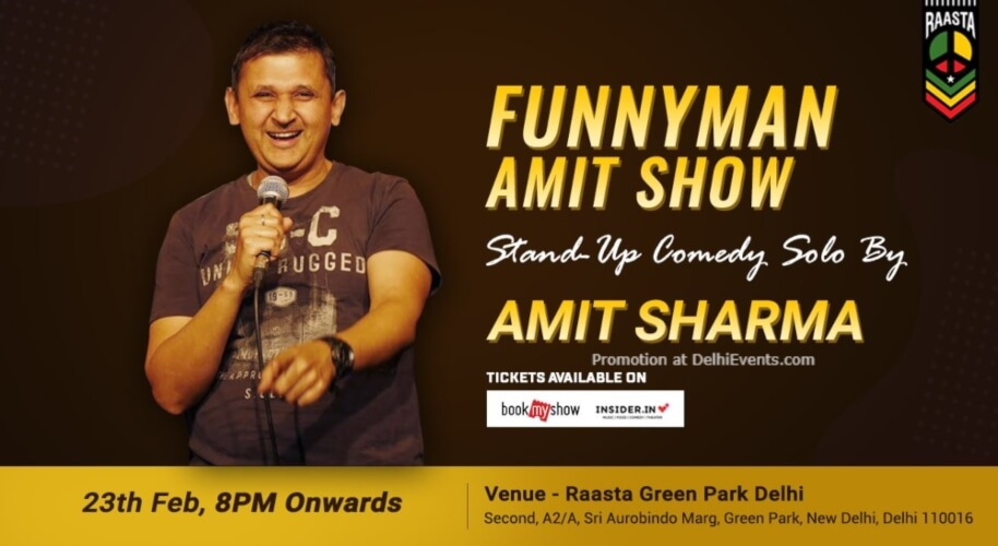 Funnyman Amit Sharma Standup Comedy Raasta Green Park Creative