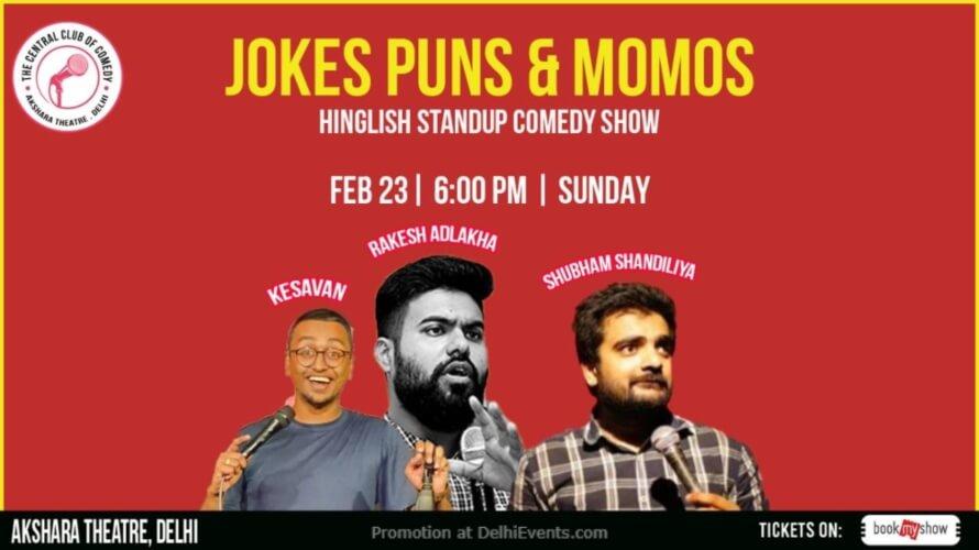 Jokes Puns Momos Standup Comedy Show Akshara Theatre Creative