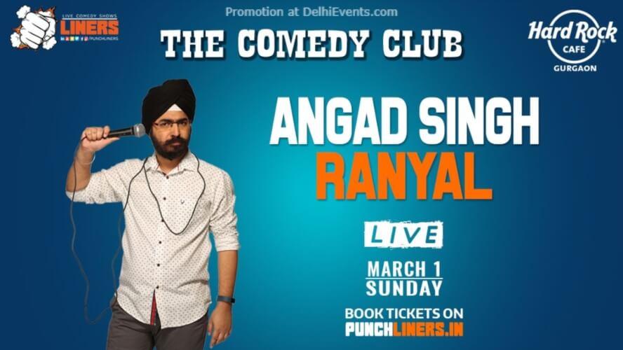 Punchliners Comedy Show Angad Singh Ranyal Hard Rock Cafe Gurugram Creative