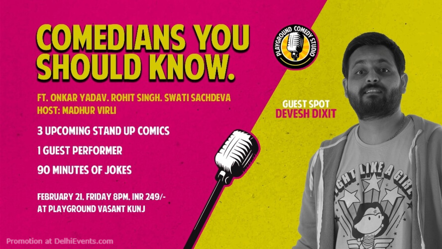 Comedians You Should Know Standup Comedy Show 71 Maliks Vasant Kunj Creative