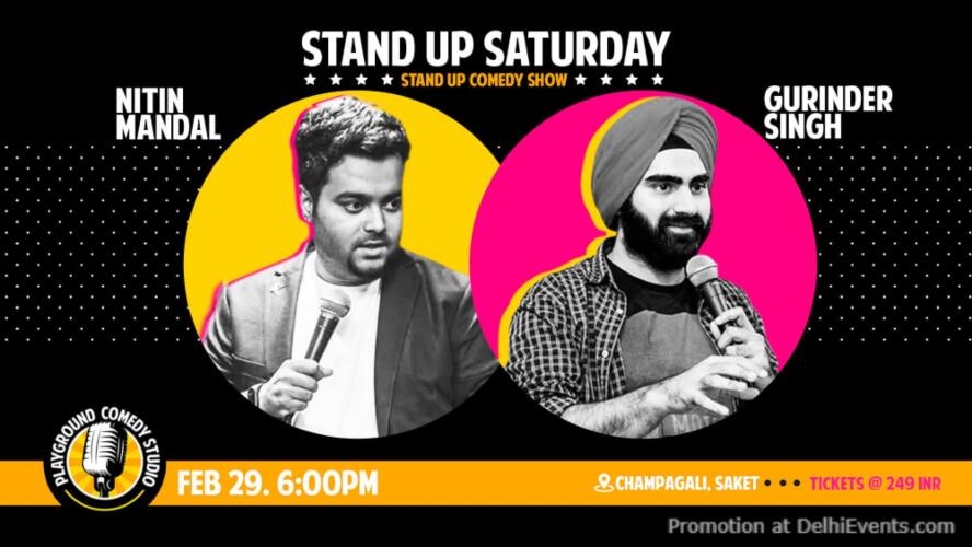 Standup Comedy Nitin Mandal Gurinder Singh Playground Studio Saket Creative