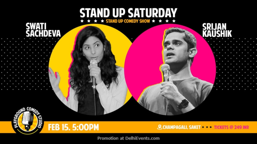 Standup Saturday Srijan Swati Playground Comedy Studio Saket Creative