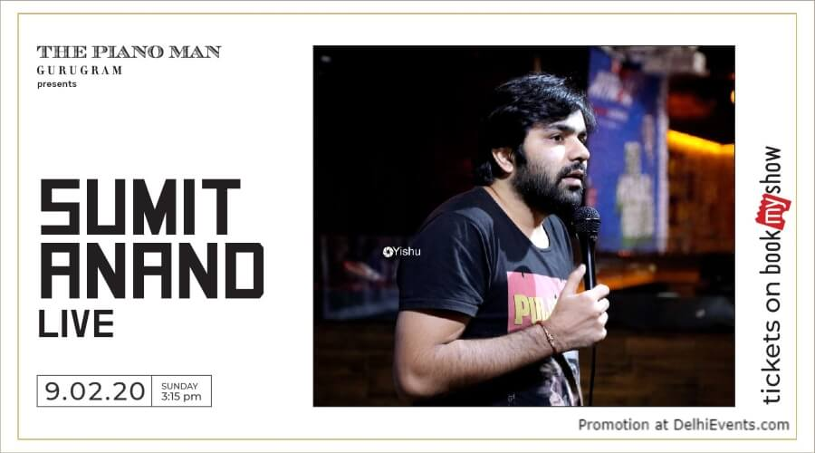 Standup Comedy Show Sumit Anand Piano Man Gurugram Creative