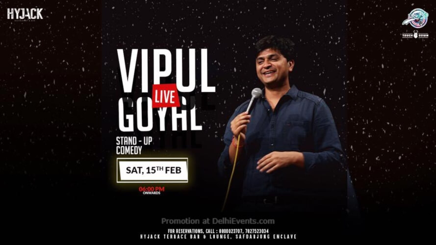 Standup Comedy Vipul Goyal Hyjack Restaurant Bar Safdarjung Enclave Creative