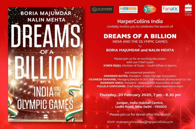 Dreams Billion India Olympic Games Book Launch