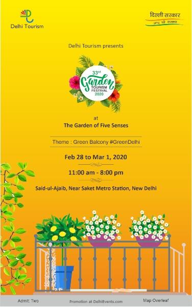 33rd Garden tourism Festival Five Senses Saket Creative