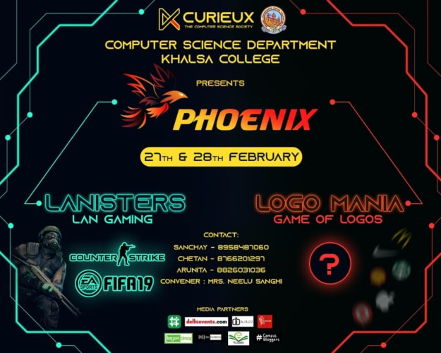PHOENIX Annual Fest Computer Science Department SGTB Khalsa College North Campus Creative