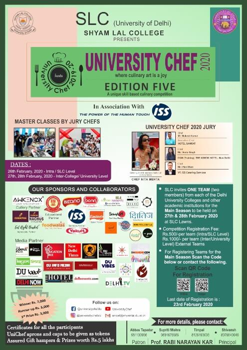 University Chef Shyam Lal College Shahdara Creative