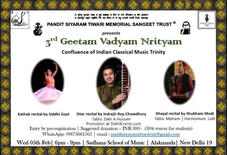 Pandit Siyaram Tiwari Memorial Sangeet Trust 3rd Geetam Vadyam Nrityam Sadhana School Music Dance Arts Alaknanda Creative