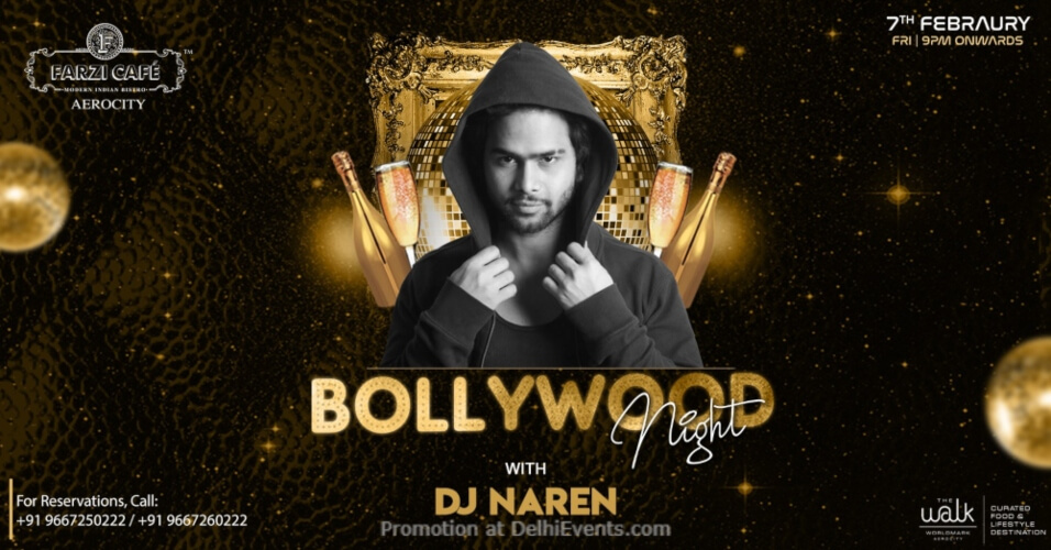 Bollywood Night DJ Naren Farzi Cafe Aerocity Creative