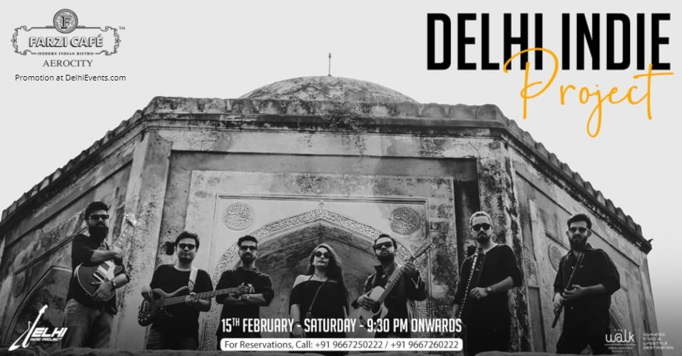 Delhi Indie Project performing live! Farzi Cafe Aerocity Creative