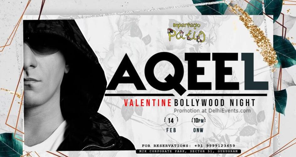 DJ Aqeel x Valentines Bollywood Night Imperfecto Patio Gurugram Creative