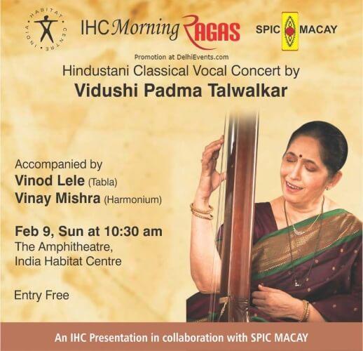 Hindustani Classical vocal concert Vidushi Padma Talwalkar India Habitat Centre Lodhi Road Creative