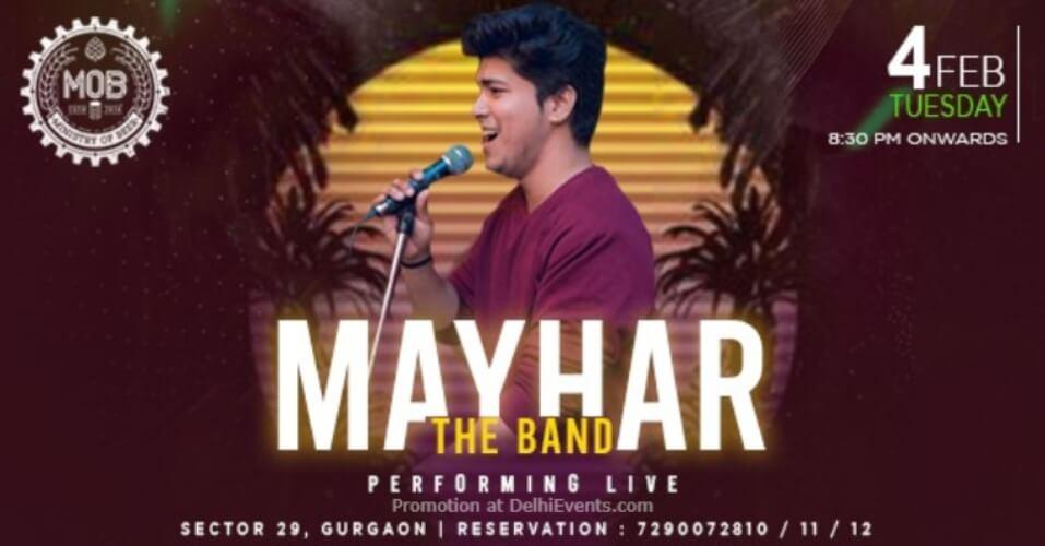 Mayhar Band Performing Ministry Beer Gurugram Creative