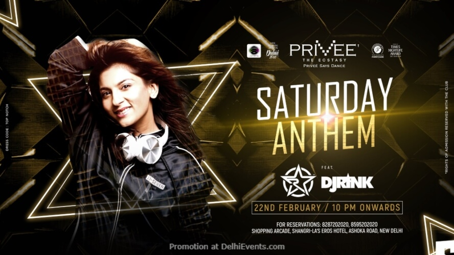 Saturday Anthem DJ Rink Privee CP Creative