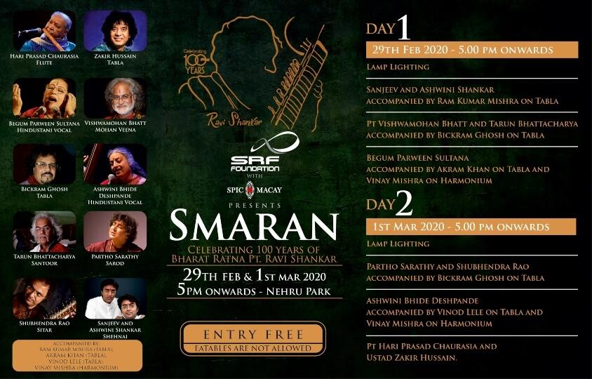 Smaran Celebrating 100 years Bharat Ratna Pt Ravi Shankar Nehru Park Chanakyapuri Creative