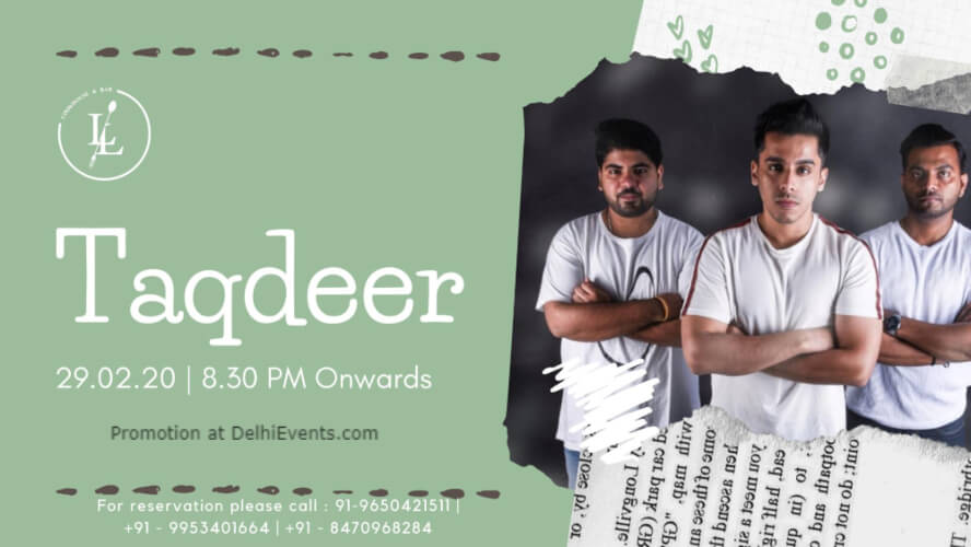 Saturday Nights Taqdeer Band Ansal Plaza Khel Gaon Marg Creative