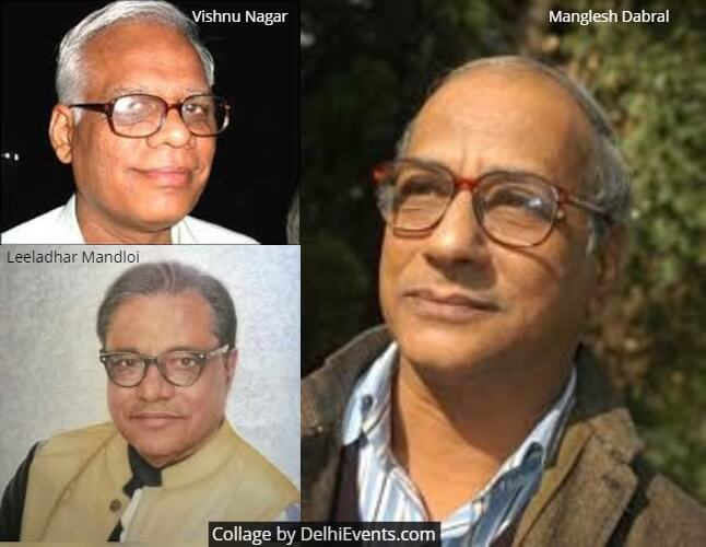 Poets Manglesh Dabral Vishnu Nagar Leeladhar Mandloi