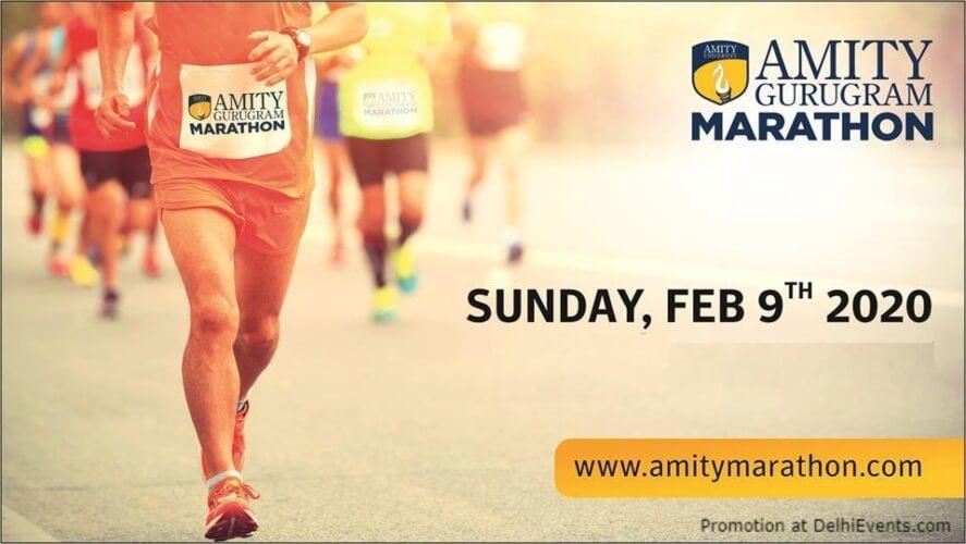 Amity Gurugram Marathon 2020 Leisure Valley Creative