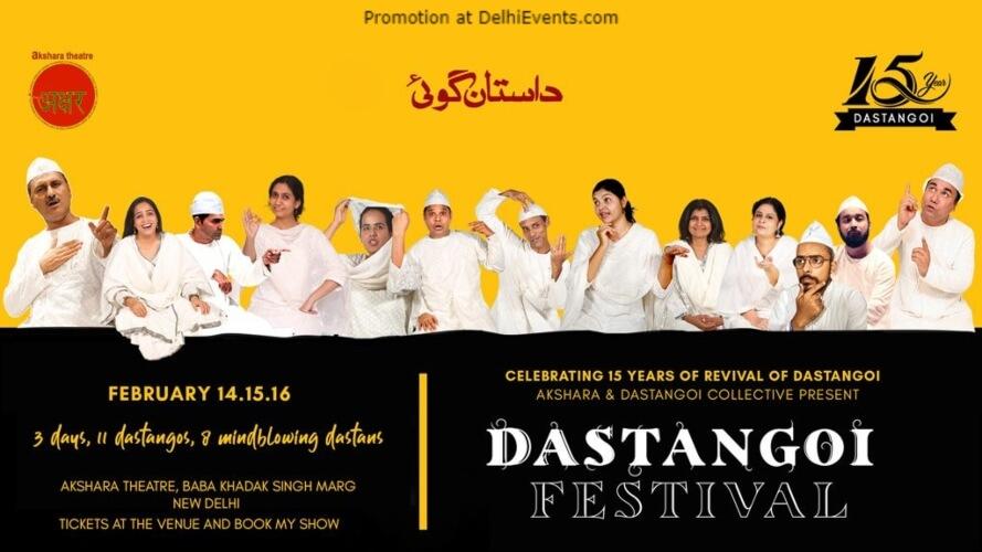 Dastangoi Festival Akshara Theatre Baba Kharak Singh Marg Creative