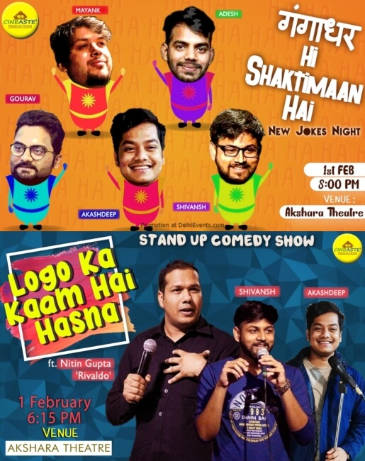 Standup Comedy Shows Cineaste Production Akshara Theatre Baba Kharak Singh Marg Creative