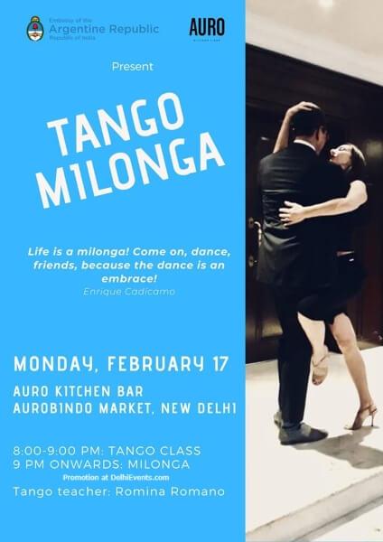 Tango Class Romina Romano Auro Kitchen Bar Hauz Khas Creative
